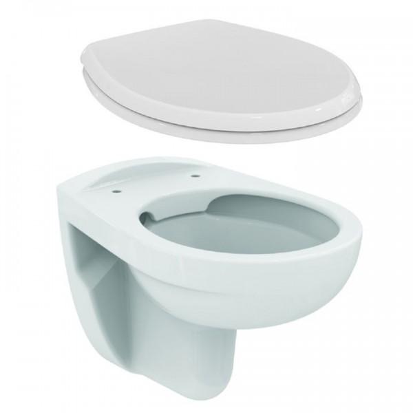 Ideal Standard Eurovit Wand Tiefspül WC K284401 spülrandlos inkl. WC-Sitz W302601