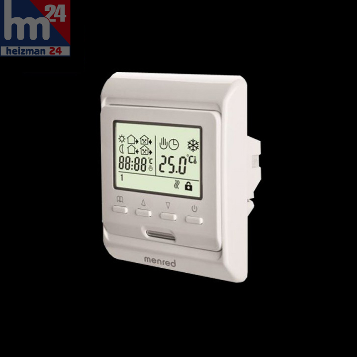 menred digitaler raumthermostat 230 v raumthermostate regeltechnik heizman24. Black Bedroom Furniture Sets. Home Design Ideas
