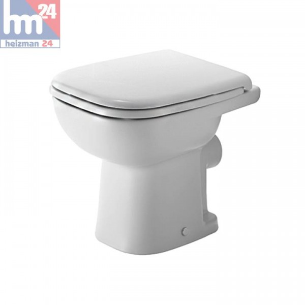 Duravit D-Code Standflachspül-WC 2109090000 inkl. WC-Sitz optional mit SoftClose