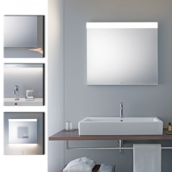 duravit best spiegel mit led beleuchtung oben 60x70 cm. Black Bedroom Furniture Sets. Home Design Ideas