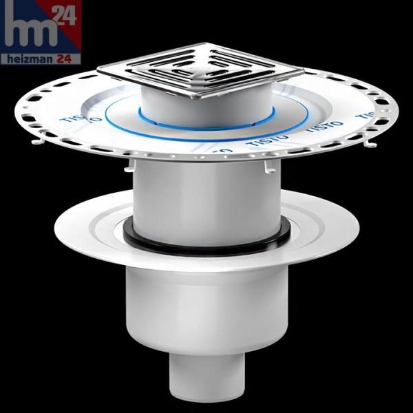 Dallmer Dünnbett-Bodenablauf Set 61 HT/VC Ablaufstutzen DN 50 / DN 70 150 x 150 mm 563231