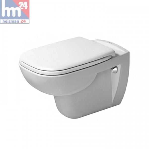 Duravit D-Code Wandtiefspül-WC 2535090000 inkl. WC-Sitz optional mit SoftClose