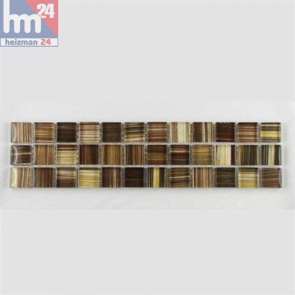 Mosaik Sa Torre Glas Bordüre 29,5 x 7,5 x  0,8 cm