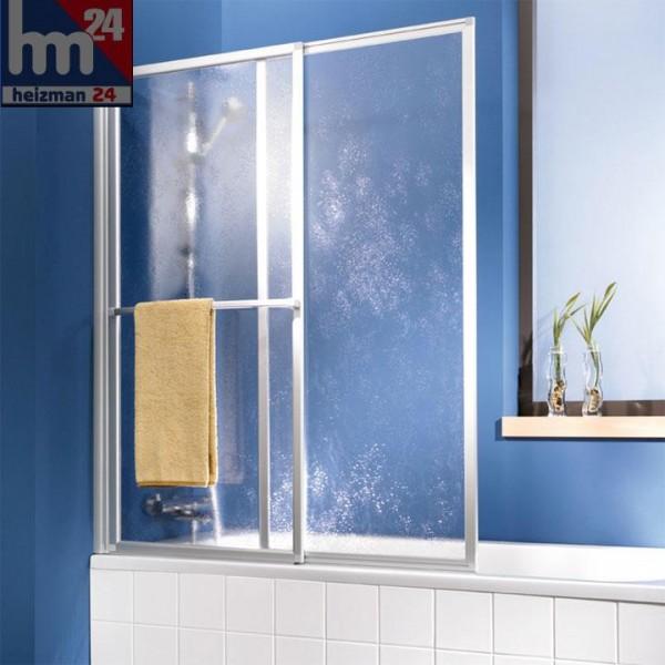 HSK Favorit Badewannenaufsatz Schiebeelement inkl. Handtuchhalter