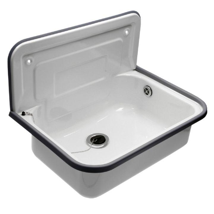 ausgussbecken waschbecken stahl emailliert  mm mit