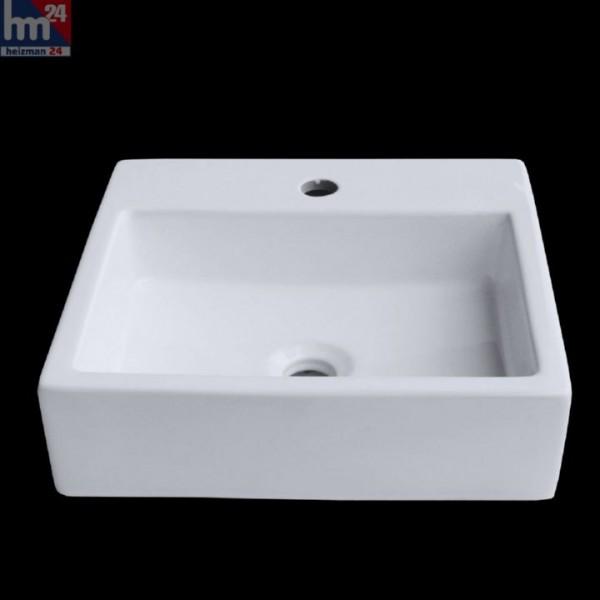 Aufsatzwaschbecken Berlin 274H 41x41x11 cm, Waschbecken, Aufsatzbecken, Waschtisch, Keramik