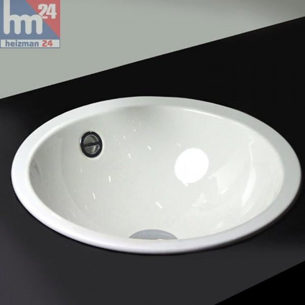 Alape Einbaubecken / Stahl-Waschtisch EB.K450 aus Porzellan-Emaille 2002000000