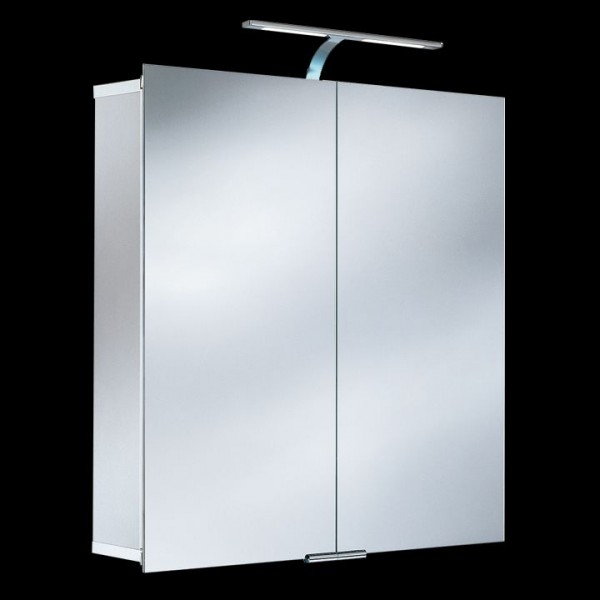 HSK ASP 300 LED-Spiegelschrank 75x75 cm aus Aluminium 1142075