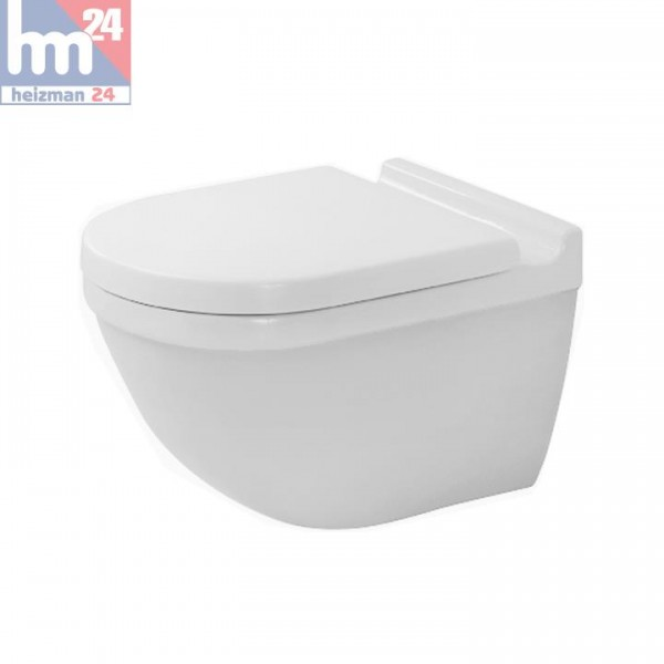 Duravit Starck 3 Wandtiefspül-WC 22250900001 WonderGliss inkl. WC-Sitz optional mit SoftClose