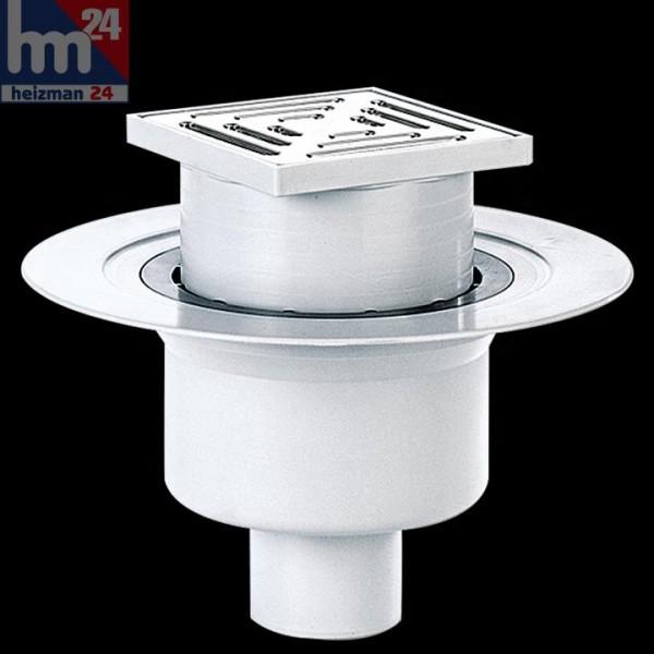 Dallmer Bodenablauf 61 HT/KE 150 x 150 mm DN 50 / DN 70 mit Ablaufstutzen 611253