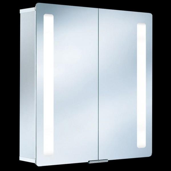 HSK ASP Softcube Alu-Spiegelschrank mit Beleuchtung 75x75 cm 1132075