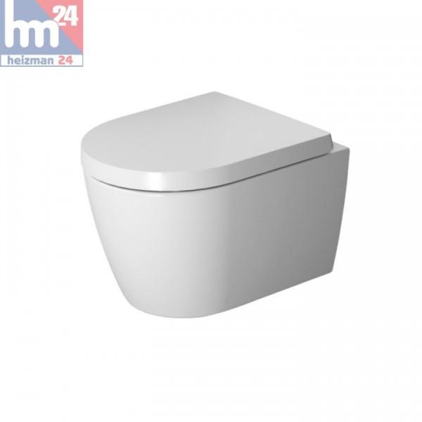 Duravit ME by Starck Wandtiefspül-WC Compact Rimless® 2530090000 inkl. WC-Sitz