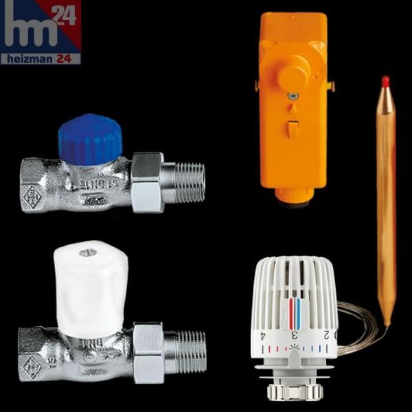 IMI HEIMEIER Fußboden-Regelset 2 bis 85 m² mit verdeckter Temperatureinstellung 9690-02.000