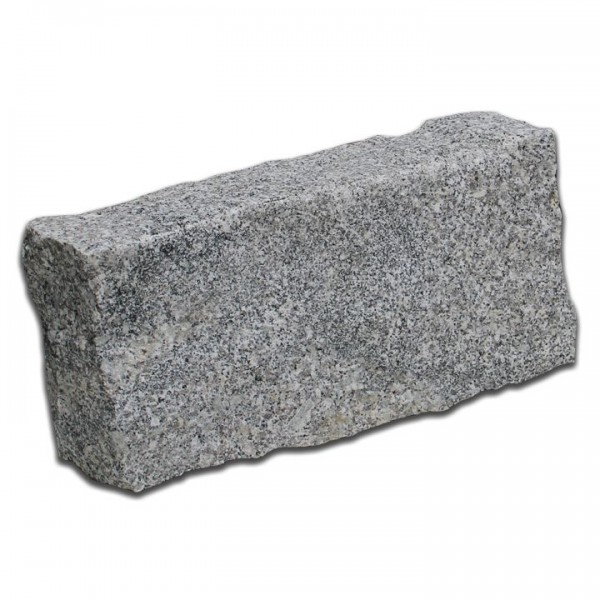 Granit Bordstein Randstein Begrenzungsstein Rinnstein in Grau 40x20x10 cm