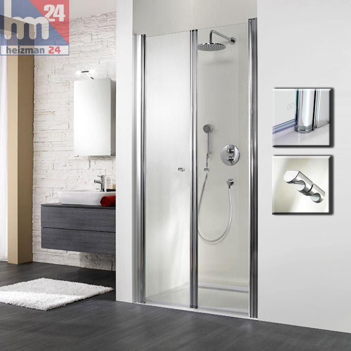 hsk exklusiv duschabtrennung duschkabine pendelt r f r nische 90 x 200 cm duschabtrennungen. Black Bedroom Furniture Sets. Home Design Ideas