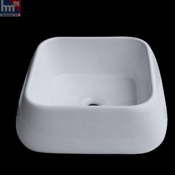 Aufsatzwaschbecken Berlin 7740 40x40x16 cm, Waschbecken, Aufsatzbecken, Waschtisch, Keramik