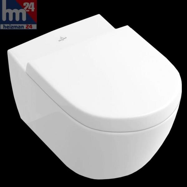 Villeroy & Boch Subway 2.0 Tiefspülklosett weiß 56001001 inkl. WC-Sitz Softclosing