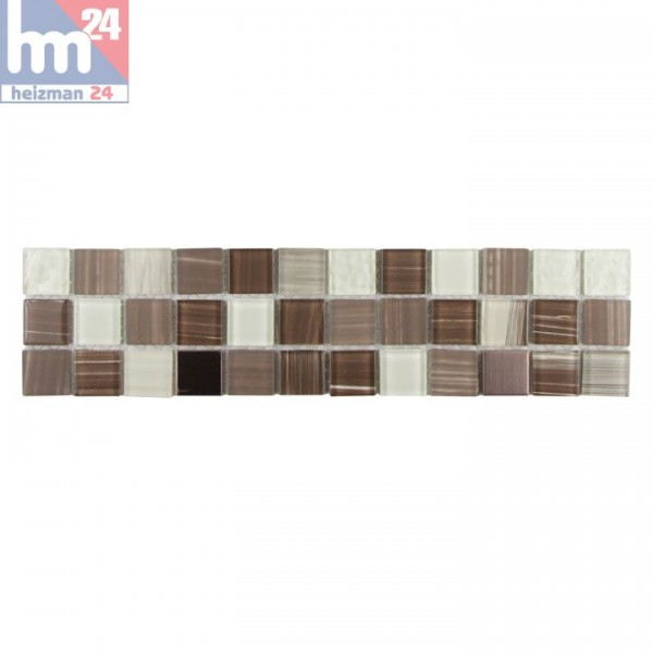 Mosaik Tolima Glas Metall Bordüre 29,7 x 7,2 x 0,4 cm