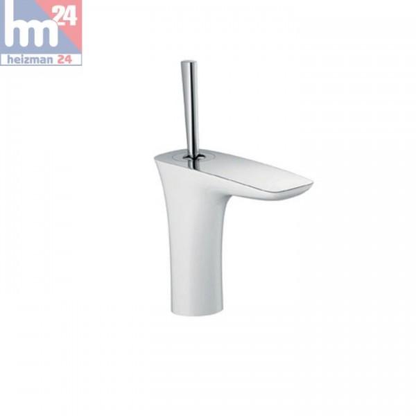 Hansgrohe PuraVida Einhebel-Waschtischmischer 110 weiß/chrom 15070400 mit Push-Open Ablaufgarnitur
