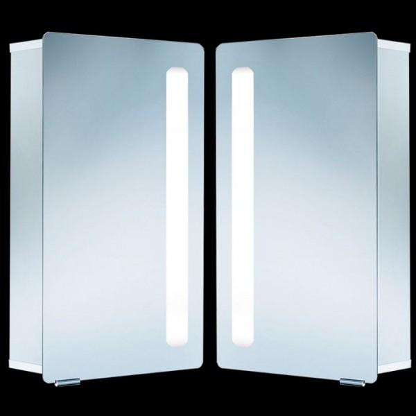 HSK ASP Softcube Alu-Spiegelschrank mit Beleuchtung 45x75 cm 1131045