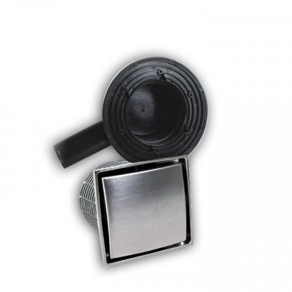 Bodenablauf / Ablauf-Set Bari DN 50 inkl. Aufsatz 130x130 mm