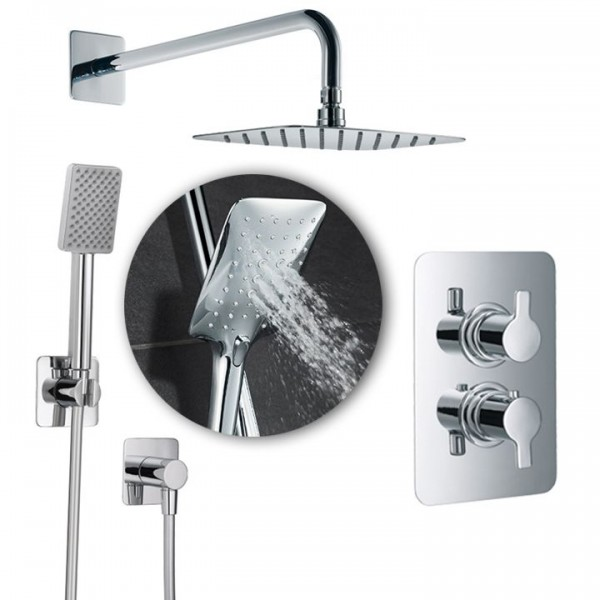 HSK Shower-Set Softcube 2.04 inkl. Brausethermostat Unterputz 1000204