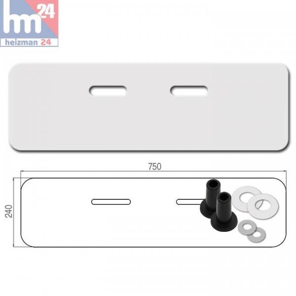 Schallschutz-Set für Waschtisch, 750 x 240 x 4 mm