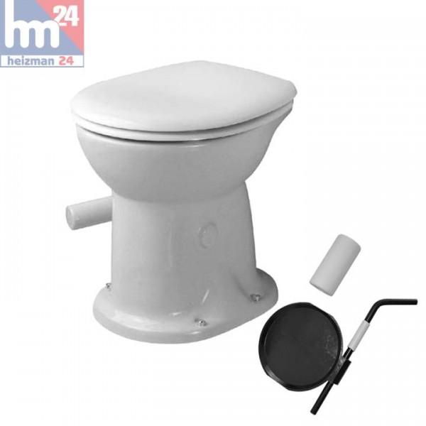 Duravit Duraplus Trocken-WC 0180010000 inkl. Klappengarnitur 0050230000 und WC-Sitz