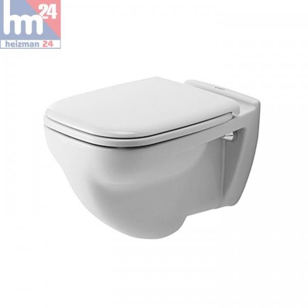 Duravit D-Code Wandflachspül-WC 2210090000 inkl. WC-Sitz optional mit SoftClose