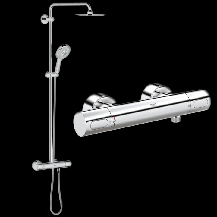 grohe duschsystem rainshower system 210 power soul 27967000 grohe dusche armaturen. Black Bedroom Furniture Sets. Home Design Ideas
