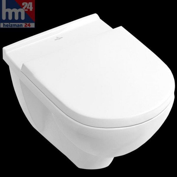 Villeroy & Boch O.novo Wandtiefspül-WC 5660H1R1 weiß-alpin Ceramicplus inkl. WC-Sitz