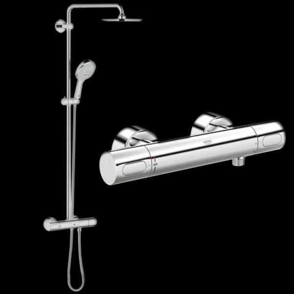 grohe duschsystem rainshower system 210 power soul 27967000 duschsysteme badarmaturen bad. Black Bedroom Furniture Sets. Home Design Ideas
