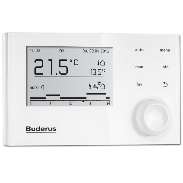 Buderus Regelung Logamatic EMS plus RC310 Weiß 7738112310 Systembedieneinheit