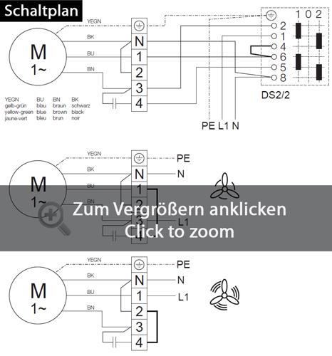 Helios Radialrohrventilator RR 160 C InlineVent DN 160 zweistufig ...