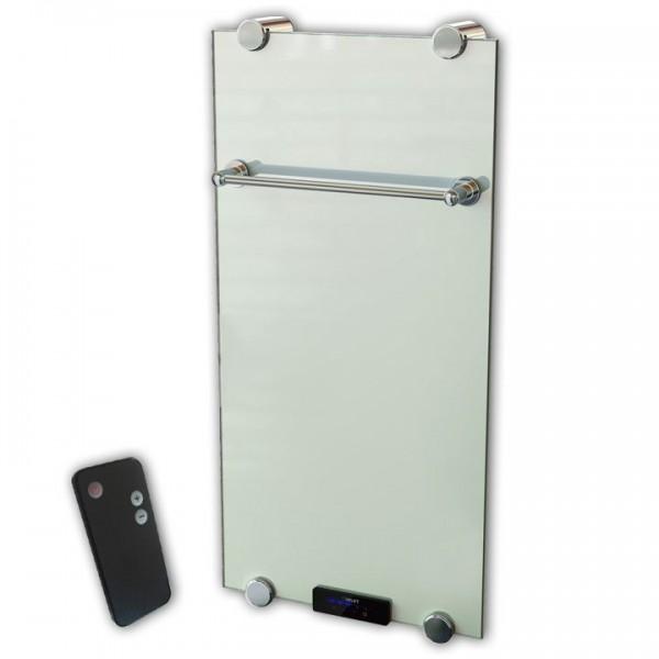 Glasheizkörper/Designheizkörper Optimo 1000x500x11 mm 500 Watt inkl. Fernbedienung