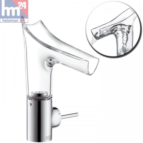 Hansgrohe Axor Starck V Einhebel-Waschtischarmatur 140 aus Kristallglas und Metall 12112000