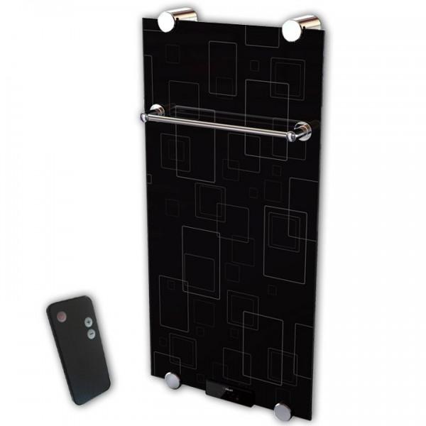 Glasheizkörper/Designheizkörper Quadro 1000x500x11 mm 500 Watt inkl. Fernbedienung