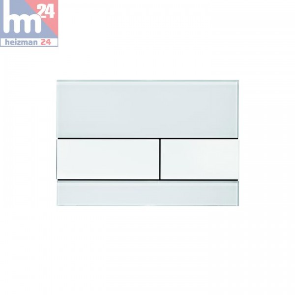 TECEsquare WC-Betätigungsplatte Glas weiß 9240800