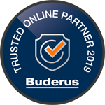 Wir sind Buderus Trusted Onlinepartner