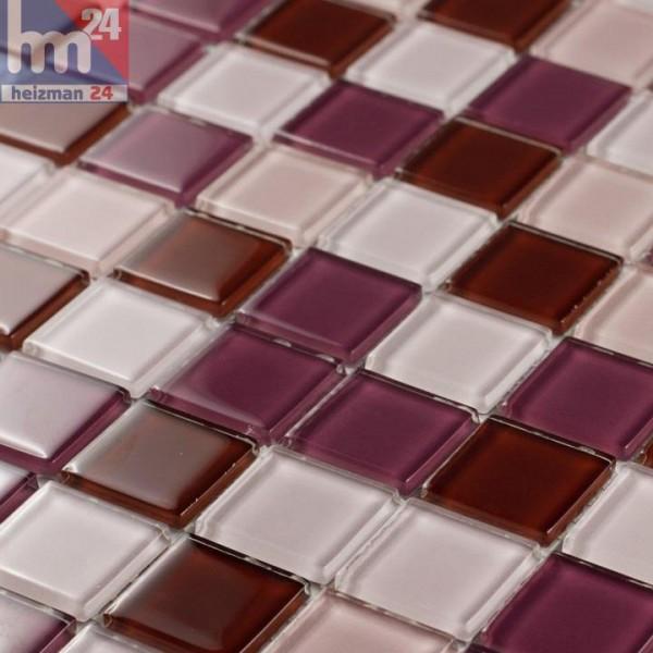 Glasmosaik Crystal Pink Mix Mosaikfliesen pink Pool, Dusche, Bad ...