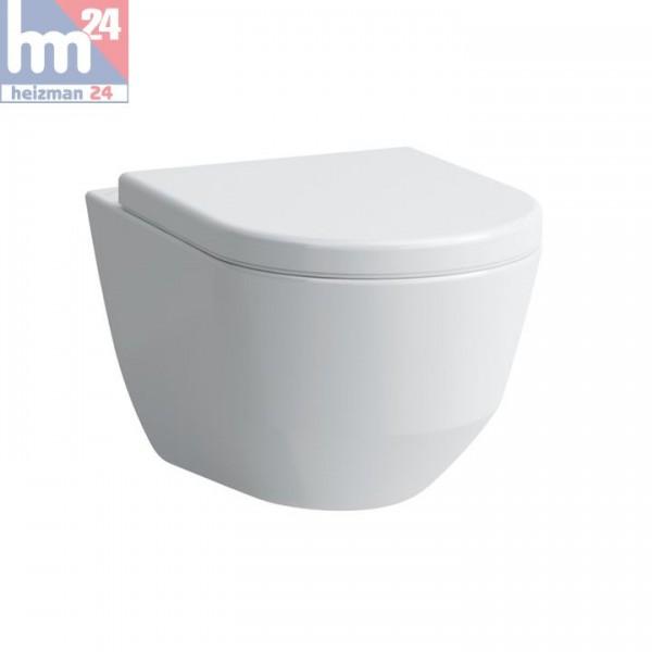 Laufen Pro S Wandtiefspül-WC Compact spülrandlos mit LCC 8209654000001 inkl. WC-Sitz