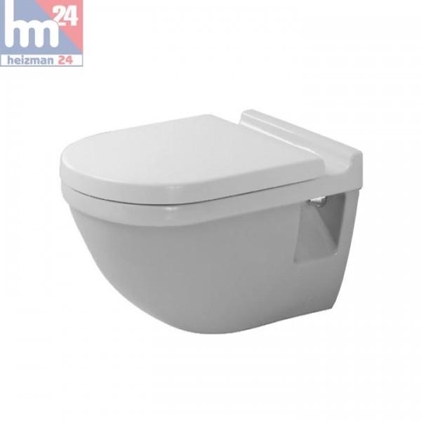 Duravit Starck 3 Wandflachspül-WC 2201090000 inkl. WC-Sitz optional mit SoftClose