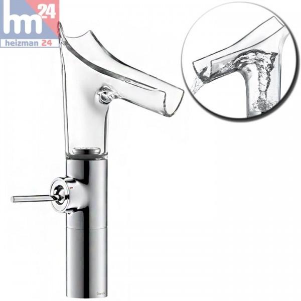 Hansgrohe Axor Starck V Einhebel-Waschtischarmatur 220 aus Kristallglas und Metall 12114000