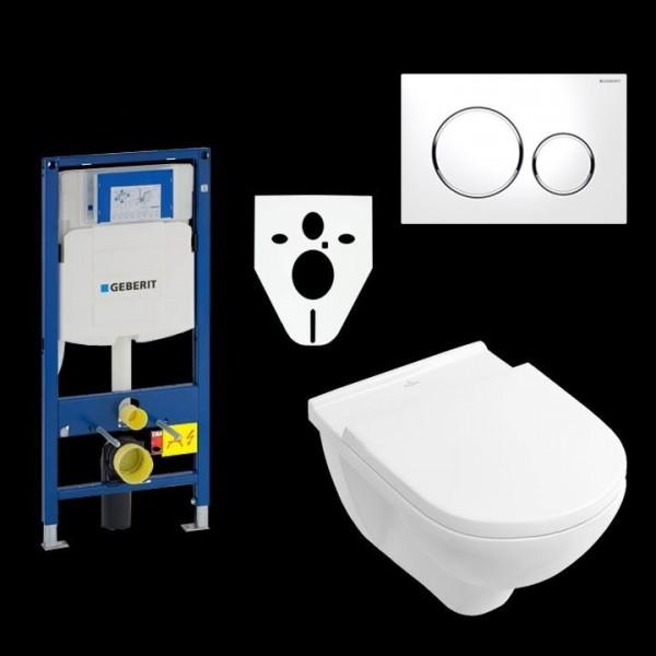 Geberit Duofix UP320 WC-Montageelement mit O.Novo Tiefspül-WC und WC-Sitz VB0003