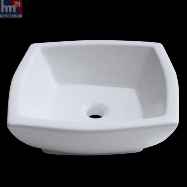 Aufsatzwaschbecken Berlin 227 in Weiß 42,5x42,5x15,5 cm Handwaschbecken