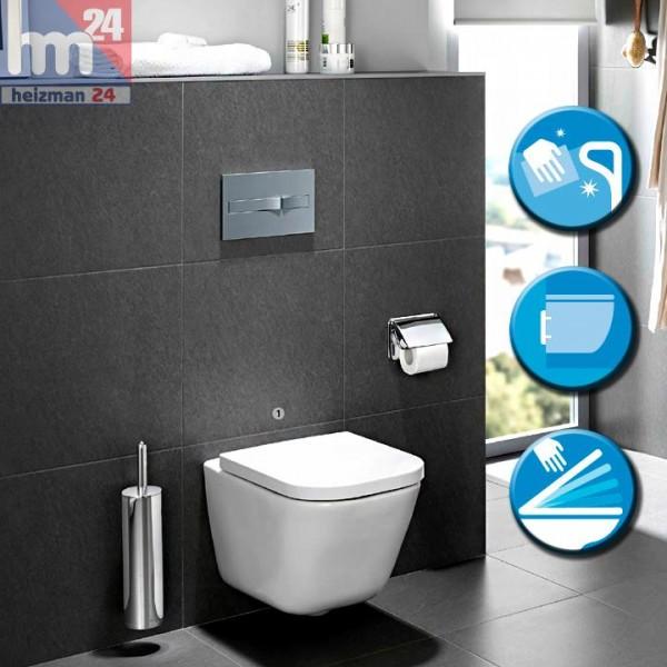 """Roca Senso Square """"The Cap"""" Wandtiefspül-WC Clean Rim / spülrandlos 734647L000 inkl. WC-Sitz"""