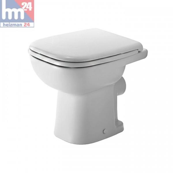 Duravit D-Code Standtiefspül-WC 2108090000 inkl. WC-Sitz optional mit SoftClose