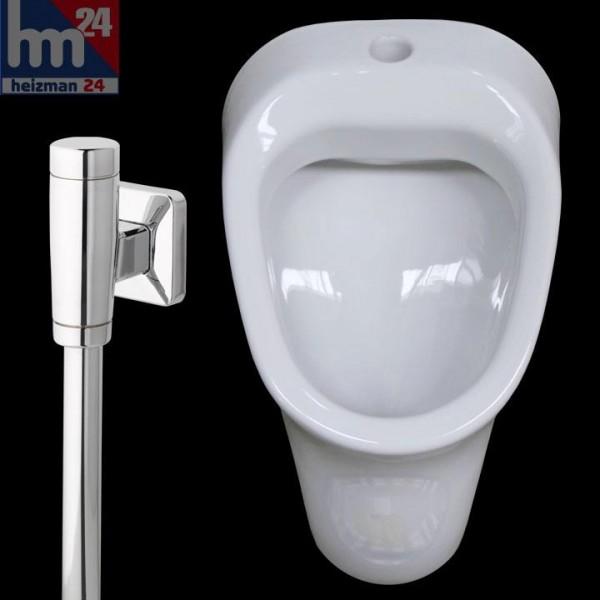 Vitra Urinal in weiß mit Zulauf von oben 6563N003D1032 inkl. NILplus nova Druckspüler 1130
