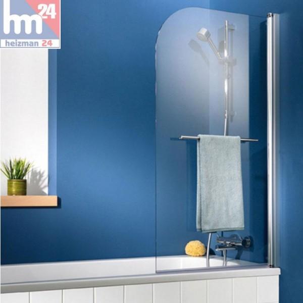 HSK Exklusiv Badewannenaufsatz 1-teilig inkl. Handtuchhalter, chrom
