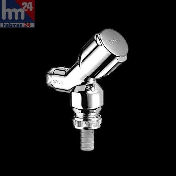 Schell Geräteschrägsitzventil DN 15 Comfort 033920613 chrom mit Rohrbelüfter